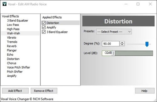Voxal Voice Changing Software Screenshots